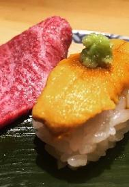 UrchiNiku Sushi (urchin & beef) Image